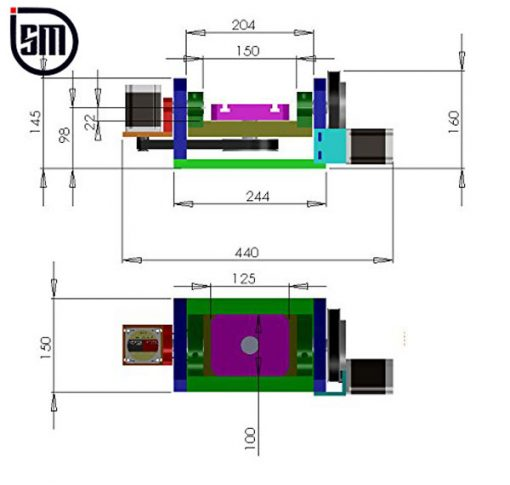 نقشه فنی محور پنجم سی ان سی