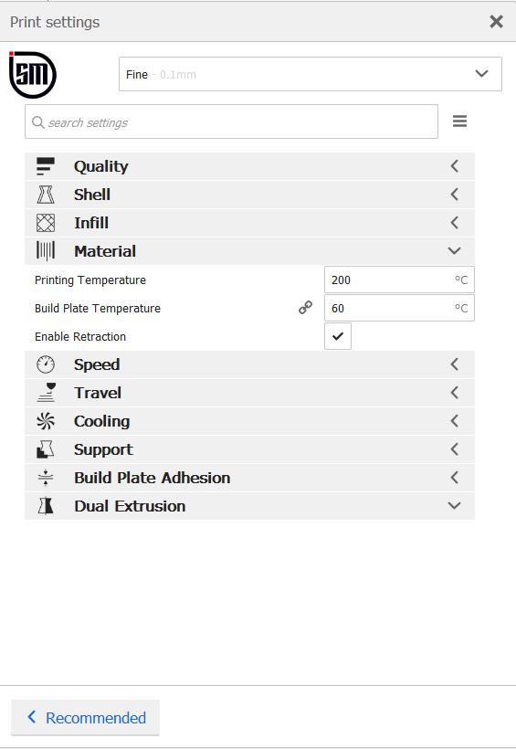 گزینه Material در نرم افزار کیورا چه کاربردی دارد ؟