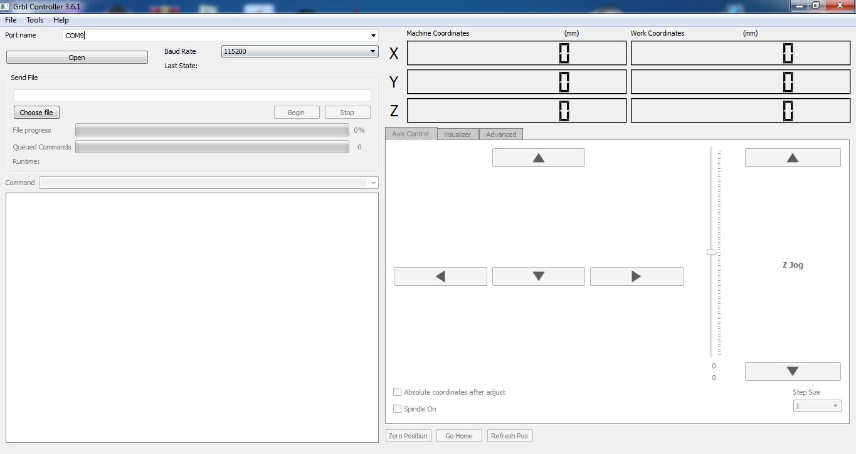 تصویر نرم افزار grbl controler